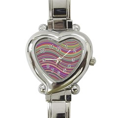Wave Abstract Happy Background Heart Italian Charm Watch