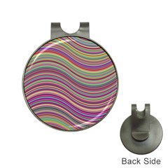 Wave Abstract Happy Background Hat Clips with Golf Markers