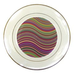 Wave Abstract Happy Background Porcelain Plates