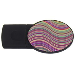 Wave Abstract Happy Background USB Flash Drive Oval (4 GB)