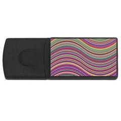 Wave Abstract Happy Background Rectangular USB Flash Drive