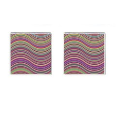 Wave Abstract Happy Background Cufflinks (Square)