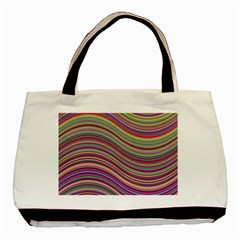 Wave Abstract Happy Background Basic Tote Bag