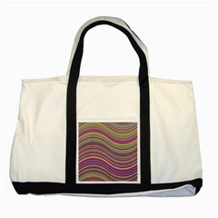 Wave Abstract Happy Background Two Tone Tote Bag