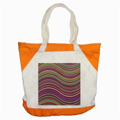 Wave Abstract Happy Background Accent Tote Bag