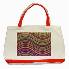 Wave Abstract Happy Background Classic Tote Bag (Red)