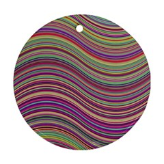 Wave Abstract Happy Background Round Ornament (Two Sides)