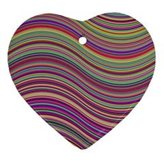 Wave Abstract Happy Background Heart Ornament (Two Sides)