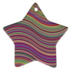 Wave Abstract Happy Background Star Ornament (Two Sides)