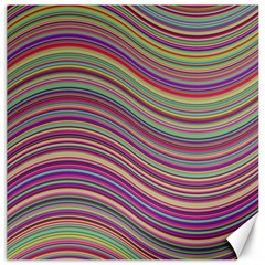 Wave Abstract Happy Background Canvas 12  X 12   by BangZart