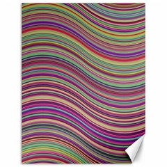 Wave Abstract Happy Background Canvas 12  x 16