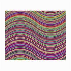 Wave Abstract Happy Background Small Glasses Cloth (2 Side)