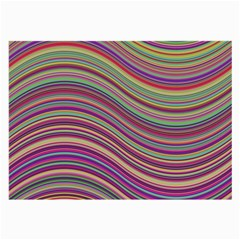 Wave Abstract Happy Background Large Glasses Cloth (2-Side)