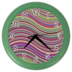 Wave Abstract Happy Background Color Wall Clocks