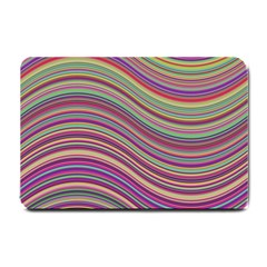 Wave Abstract Happy Background Small Doormat