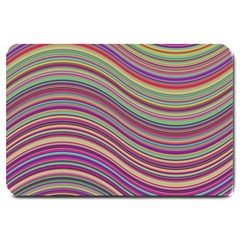 Wave Abstract Happy Background Large Doormat