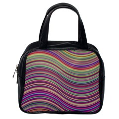 Wave Abstract Happy Background Classic Handbags (One Side)