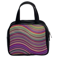Wave Abstract Happy Background Classic Handbags (2 Sides)
