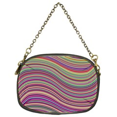 Wave Abstract Happy Background Chain Purses (One Side)
