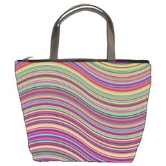 Wave Abstract Happy Background Bucket Bags