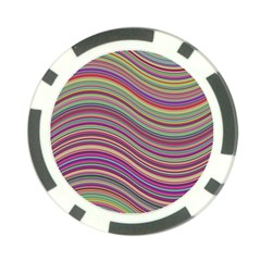 Wave Abstract Happy Background Poker Chip Card Guard (10 pack)