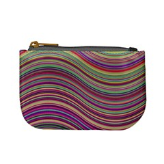 Wave Abstract Happy Background Mini Coin Purses