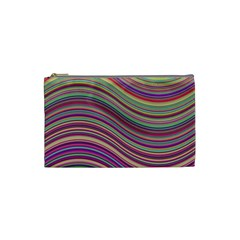 Wave Abstract Happy Background Cosmetic Bag (Small)