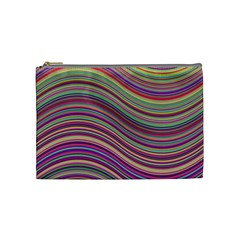 Wave Abstract Happy Background Cosmetic Bag (Medium)