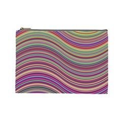 Wave Abstract Happy Background Cosmetic Bag (Large)