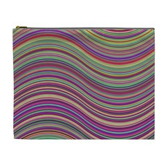 Wave Abstract Happy Background Cosmetic Bag (XL)