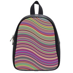 Wave Abstract Happy Background School Bag (Small)