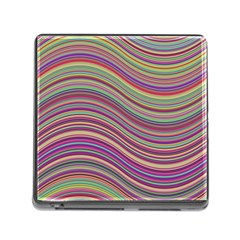Wave Abstract Happy Background Memory Card Reader (Square)