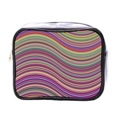 Wave Abstract Happy Background Mini Toiletries Bags