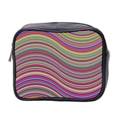 Wave Abstract Happy Background Mini Toiletries Bag 2-Side