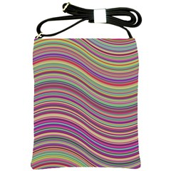 Wave Abstract Happy Background Shoulder Sling Bags