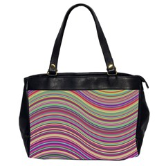 Wave Abstract Happy Background Office Handbags (2 Sides)