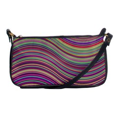 Wave Abstract Happy Background Shoulder Clutch Bags