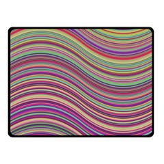 Wave Abstract Happy Background Fleece Blanket (Small)
