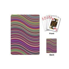 Wave Abstract Happy Background Playing Cards (Mini)