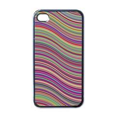Wave Abstract Happy Background Apple iPhone 4 Case (Black)