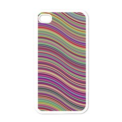 Wave Abstract Happy Background Apple iPhone 4 Case (White)