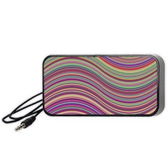 Wave Abstract Happy Background Portable Speaker