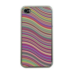 Wave Abstract Happy Background Apple iPhone 4 Case (Clear)