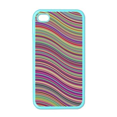 Wave Abstract Happy Background Apple iPhone 4 Case (Color)
