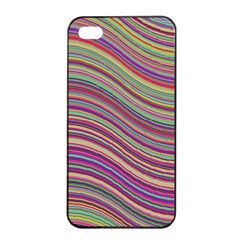 Wave Abstract Happy Background Apple iPhone 4/4s Seamless Case (Black)