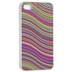 Wave Abstract Happy Background Apple iPhone 4/4s Seamless Case (White)