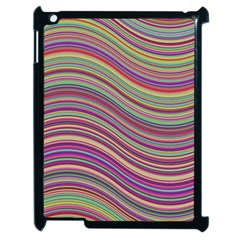 Wave Abstract Happy Background Apple iPad 2 Case (Black)