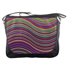Wave Abstract Happy Background Messenger Bags