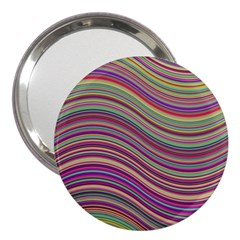 Wave Abstract Happy Background 3  Handbag Mirrors