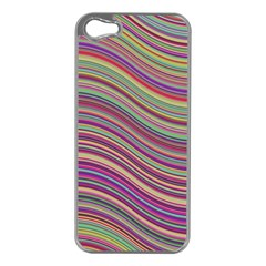 Wave Abstract Happy Background Apple iPhone 5 Case (Silver)